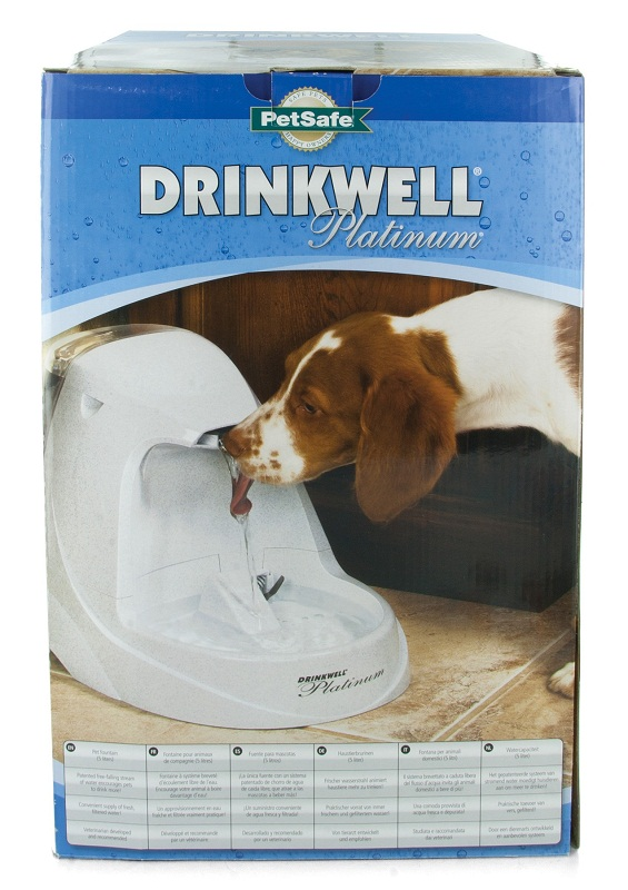 Drinkwell Platinum Fountain Paw Dog